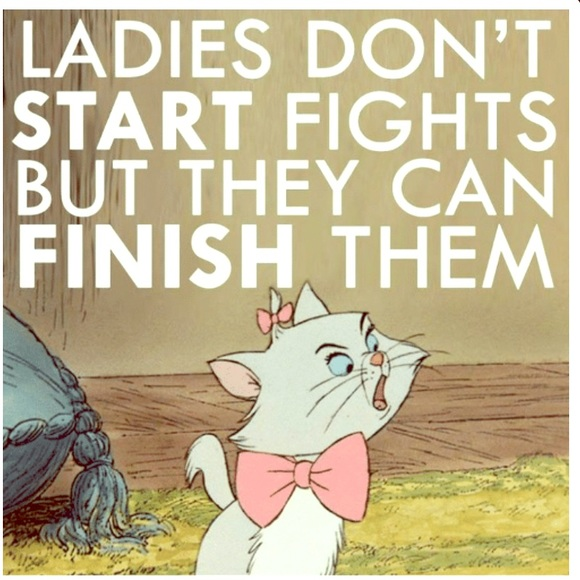 Marie Aristocats Ladies Fight Quote